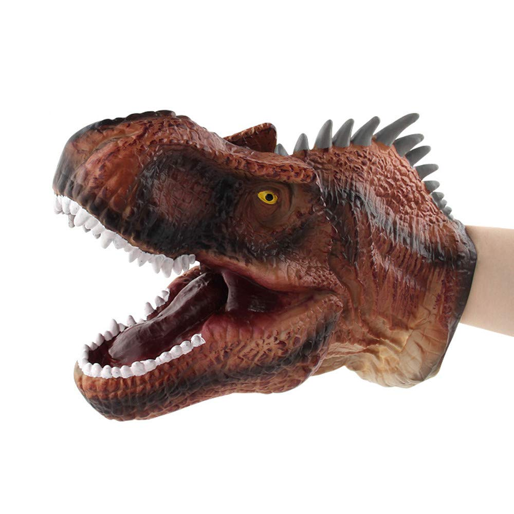 Kingko ® Dinosaur Toy Hand, Child Role Playing Fierce Dinosaur Hand Puppet Plush Gloves (A)