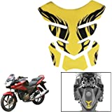 Vheelocityin Gold Chrome Bike/ Motorcyckle Tankpad for Tank Protection and Style For Honda Cbf Stunner
