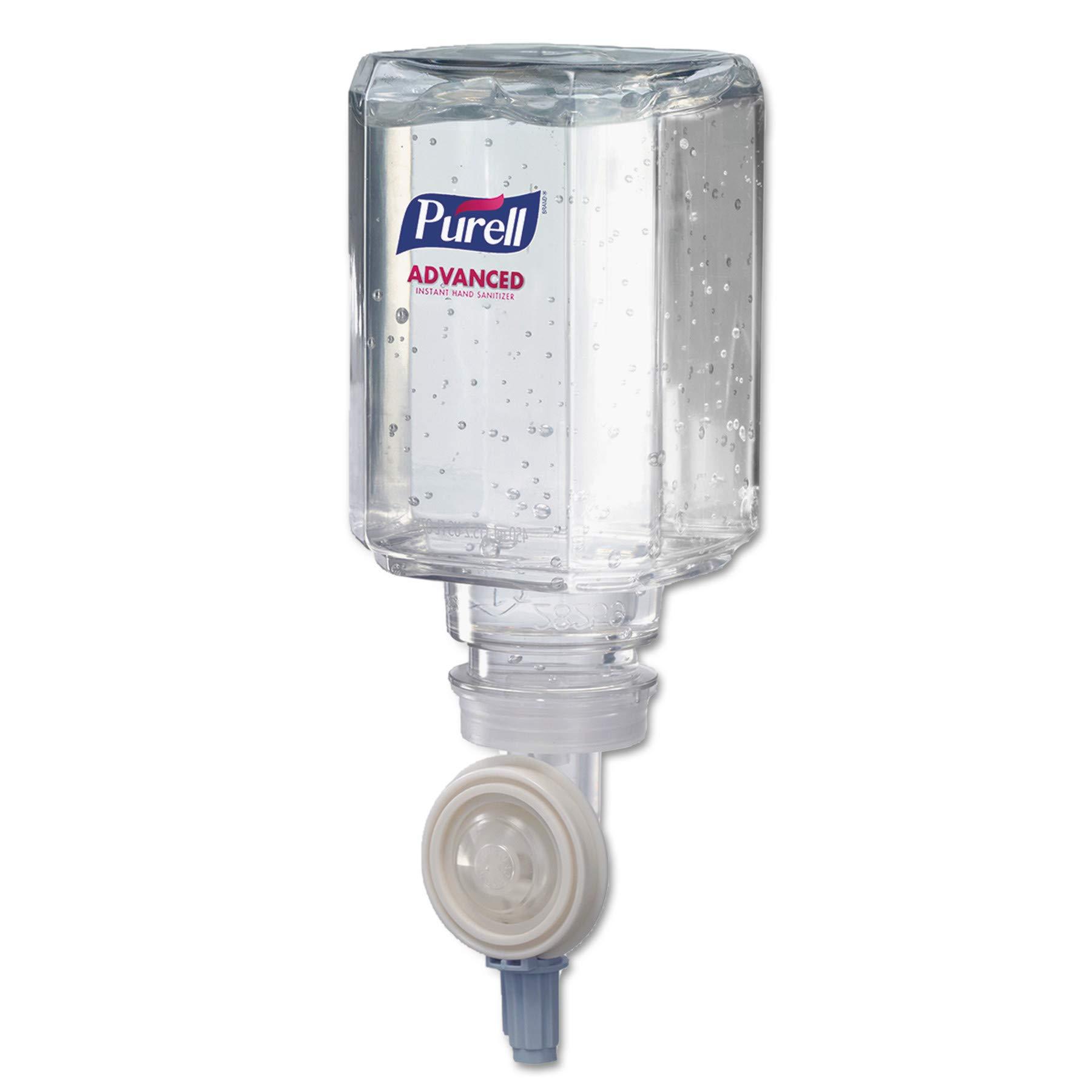 PURELL 1450082CT Advanced Instant Hand Sanitizer Gel, Lemon Scent, 450 mL Refill, 2 Refills per Pack (Case of 8 Packs)
