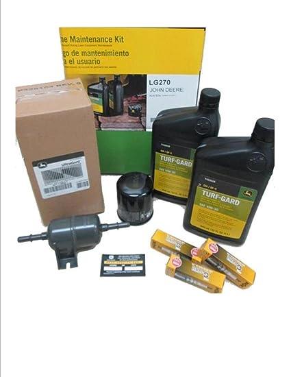 John Deere Maintenance Kit For XUV 825i Gator Utility Vehicle Oil Filters Fuel Filter Spark Plugs LG270
