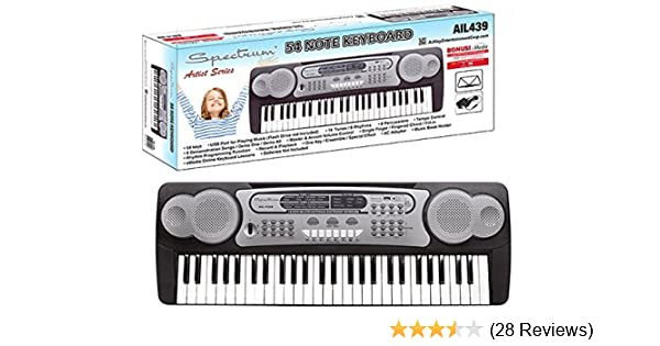 Amazon.com: Spectrum AIL 439 54-Note Electric Keyboard: Musical Instruments