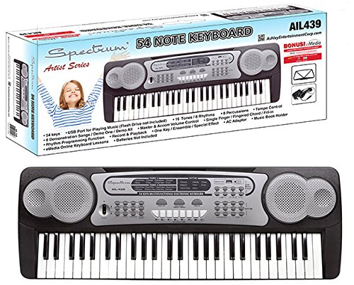 Spectrum AIL 439 54-Note Electric Keyboard from Ashley Entertainment