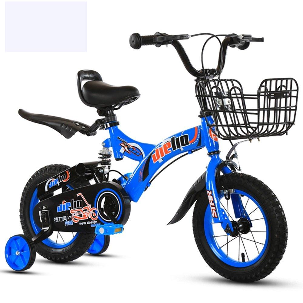 ショックアブソーババイク、ショック子供用自転車、ベビー用バイク、子供用車 ( 色 : 青 , サイズ さいず : 88cm ) B078KKLM6L 88cm|青 青 88cm
