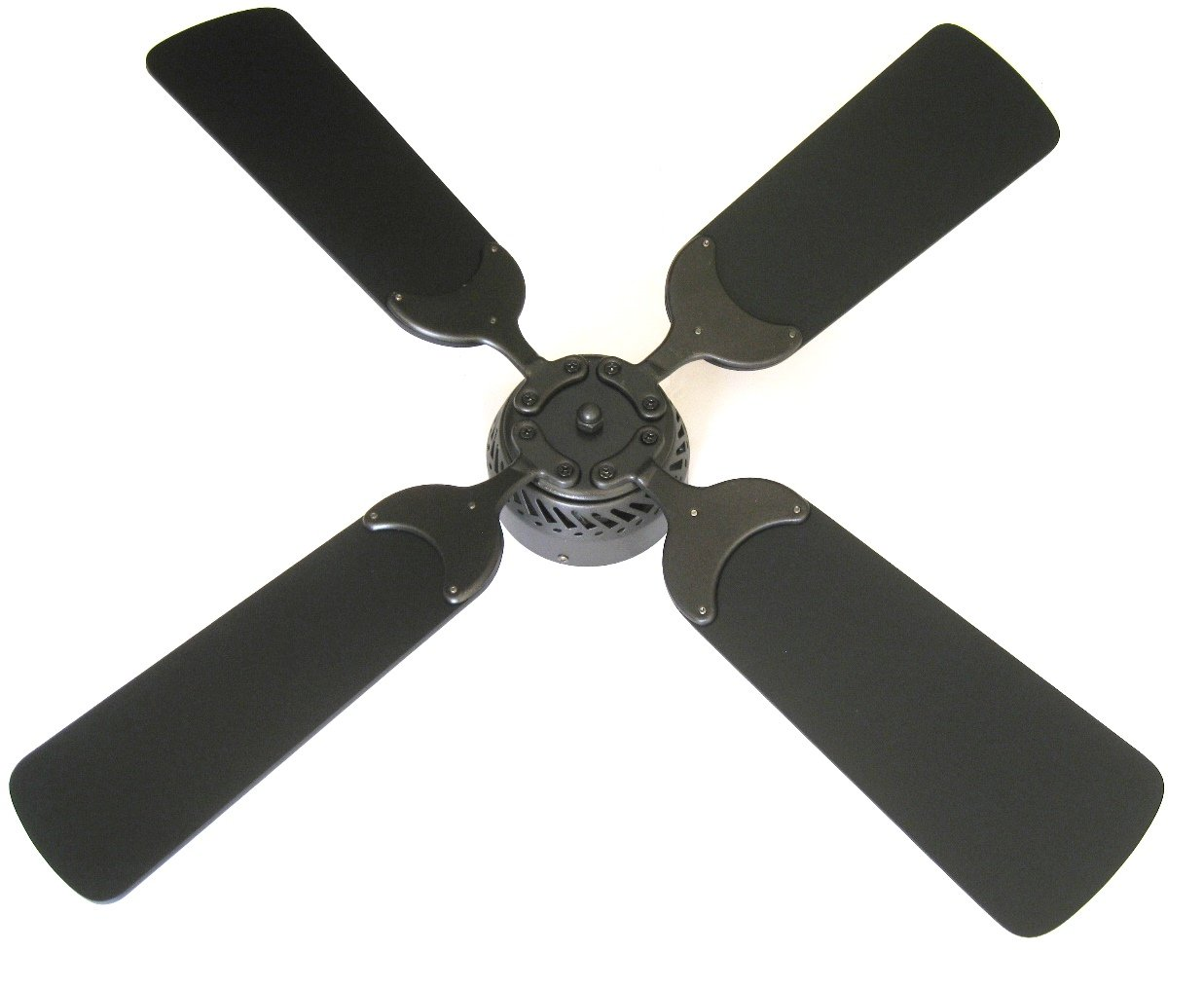 Global Electric 36-inch Non-Brush Ceiling Fan for RV, Oil Rubbed Bronze Finish with Wall Control. Black Blades