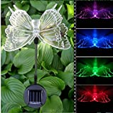 Solar Power Animal Colorful LED Light Garden Landscape Decoration Waterproof Lamp - (Pattern: Butterfly) - Garden Lights - Garden Decorative Light