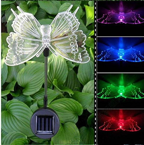 Solar Power Animal Colorful LED Light Garden Landscape Decoration Waterproof Lamp - (Pattern: Butterfly) - Garden Lights - Garden Decorative Light