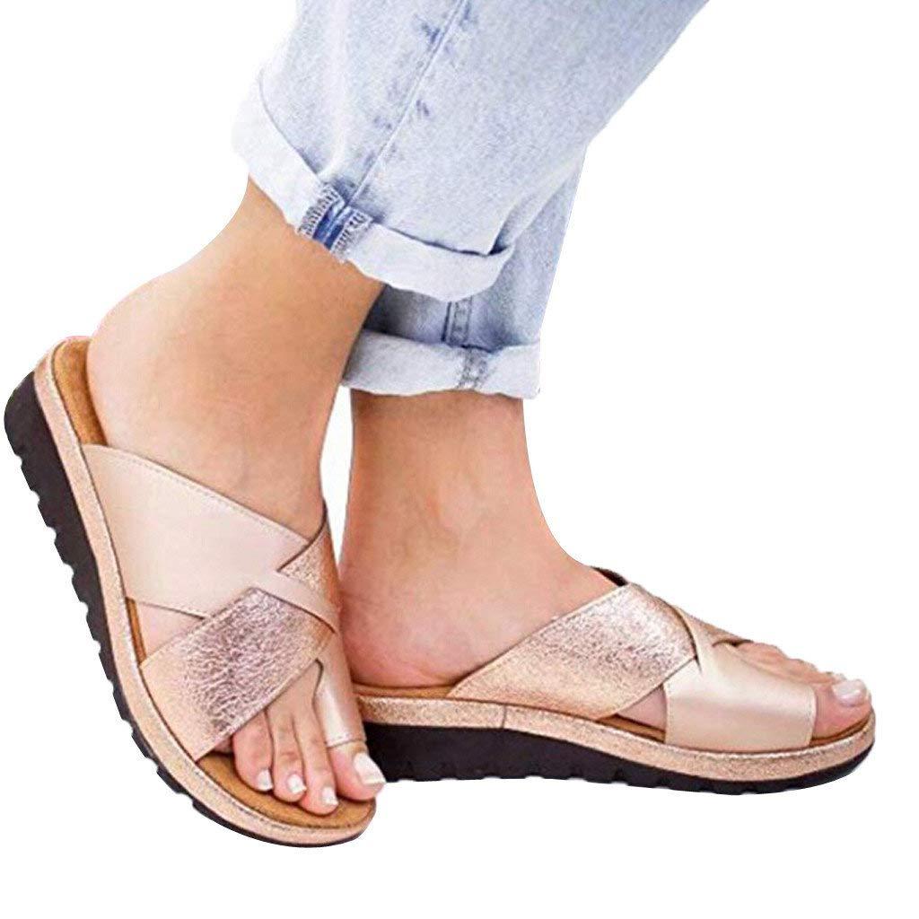 Women's Aditi Low Wedge Dress Sandals Casual Flip Flops Buckle Strap Wedges Sandals Platforms Shoes by NIKAIRALEY Shoes