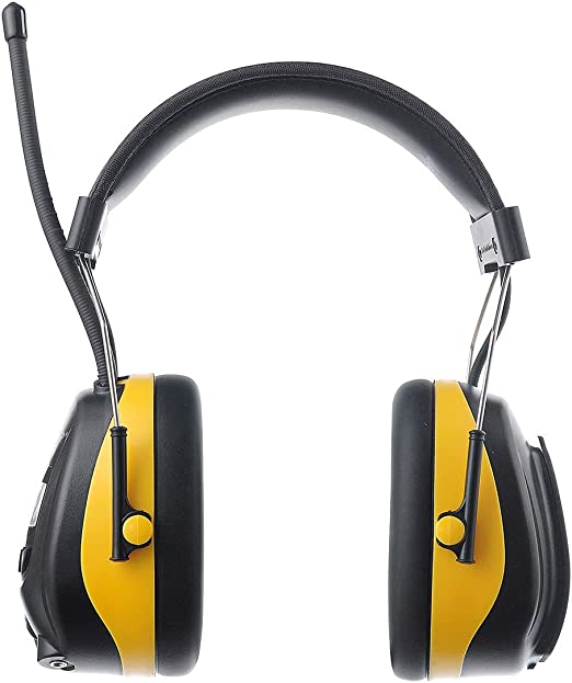 HEADPHONES BRIGHT YELLOW NEW Details about  /EAR MUFF AM//FM STEREO HEARING PROTECTION