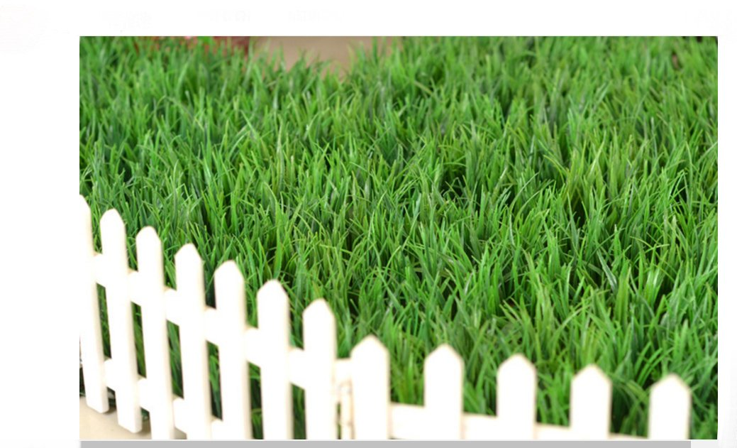 60X 40CM Artificial Seeding Grass Flower Hedge Plant Privacy Fence Screen Greenery Panels Suitable for Outdoor Indoor, garden backyard Wall and home decorations (12, Seeding Grass)