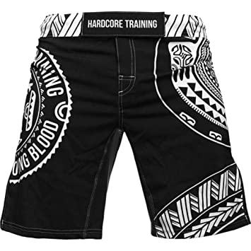 Cage Fight BJJ No-Gi Fitness Gym Pantalones Cortos Boxing Shorts Hardcore Training Fight Shorts Mens Recruit Black