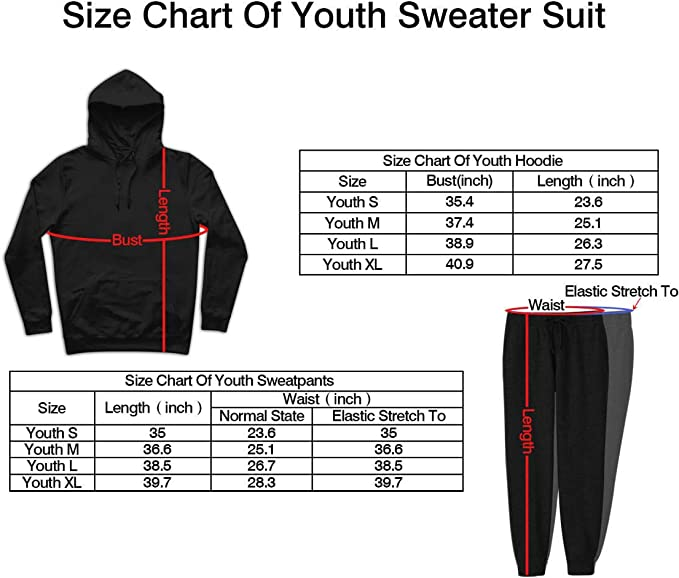 EAROBA Youth Call of Duty Pullover Hoodie and Sweatpants Suit for Teen Boys Girls 2 Piece Outfit Sweatshirt Set