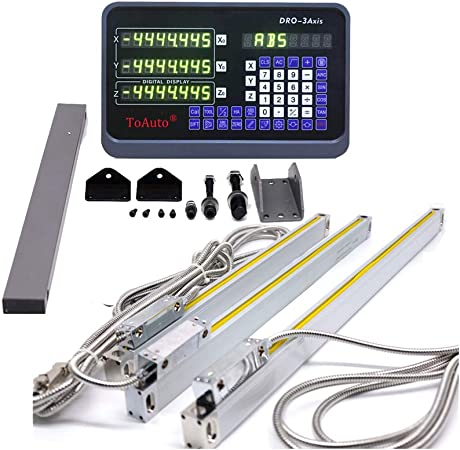 """Set 6/"""" 12/""""  24/""""-3Axis Digital Readout DRO Display+3pc Linear Scale Mill Lathe US"""