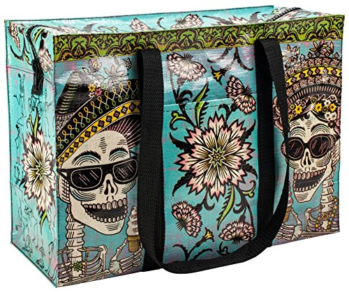 Artisan Long Handled - Blue Q Bags, Shoulder Tote, Day of The Dead