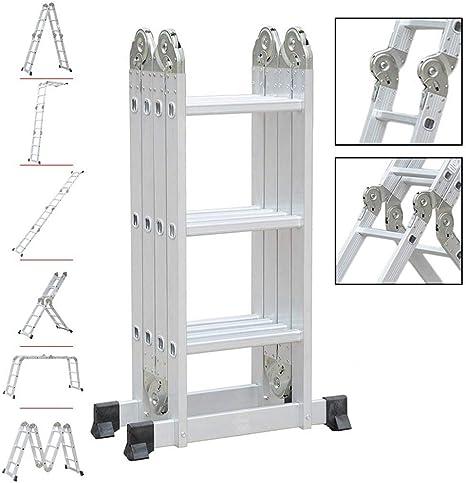Wenhu 4X3 90Cm Escalera Plegable Multifuncional Escalera Telescópica de Aluminio para el Hogar Industrial: Amazon.es: Deportes y aire libre