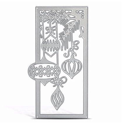 MYAMIA Linterna Metal Patrón Cortar Troqueles Moldes Navidad Bricolaje Papel Tarjeta Arte Plantilla Scrapbook Regalos