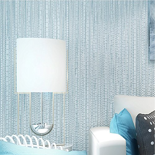 Blooming Wall: Faux Grasscloth Pattern Wallpaper Roll for Livingroom Bedroom, 20.8 In32.8 Ft=57 Sq.ft (Babyblue)