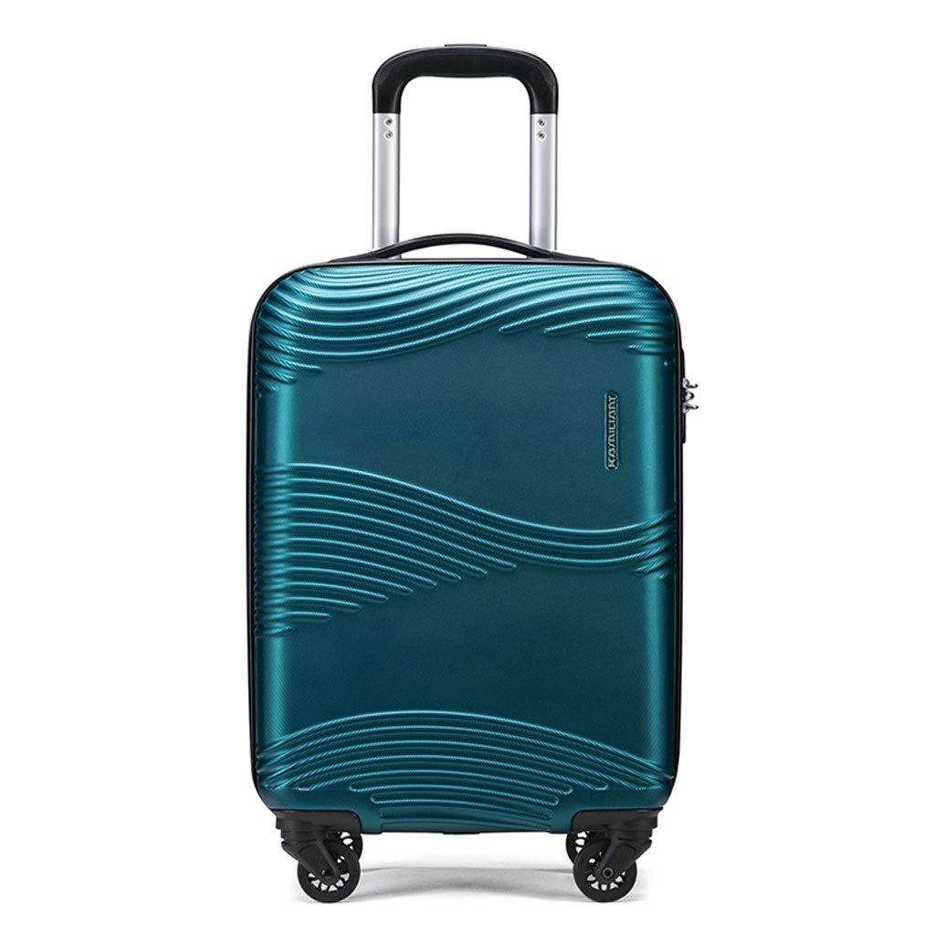 FRF トロリーケース- パスワードボックスのトロリー箱に乗っている人および女性20インチ、学生の大容量の荷物24/28インチ (色 : 青, サイズ さいず : 20in) 20in 青 B07QRXD1DS