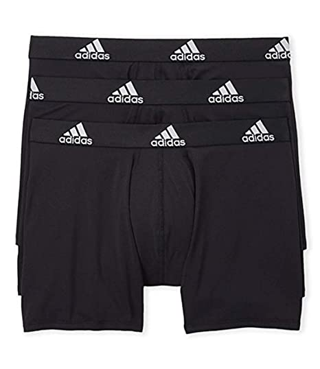 9fd9e2348a13 adidas Mens 3 Pack Climalite Performance Boxer Briefs at Amazon ...