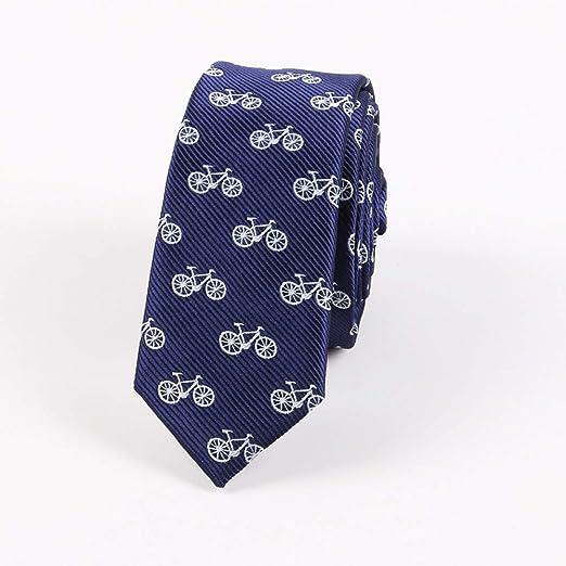 COLILI Corbatas con Estampado De Bicicleta para Corbatas Delgadas ...
