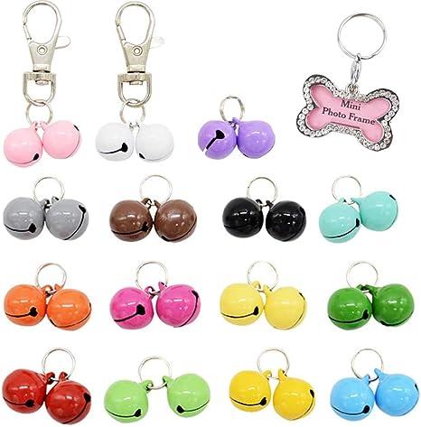 Pet Puppy Dog Candy Colorful Metal Jingle Bells Cute Collar Key Christmas Dec