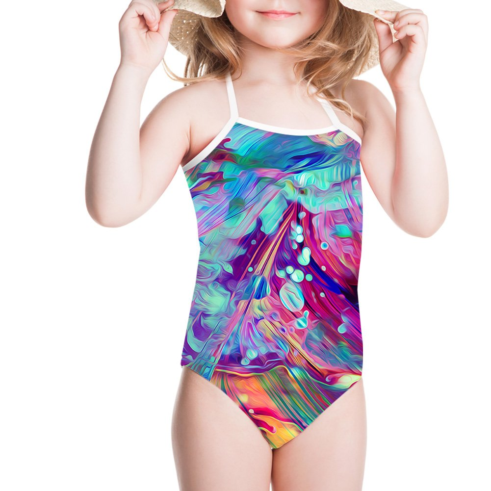 Showudesigns Girls' One Piece Swimsuit Baby Girls Bathing Suit Lovely Design Z-CC6220BS