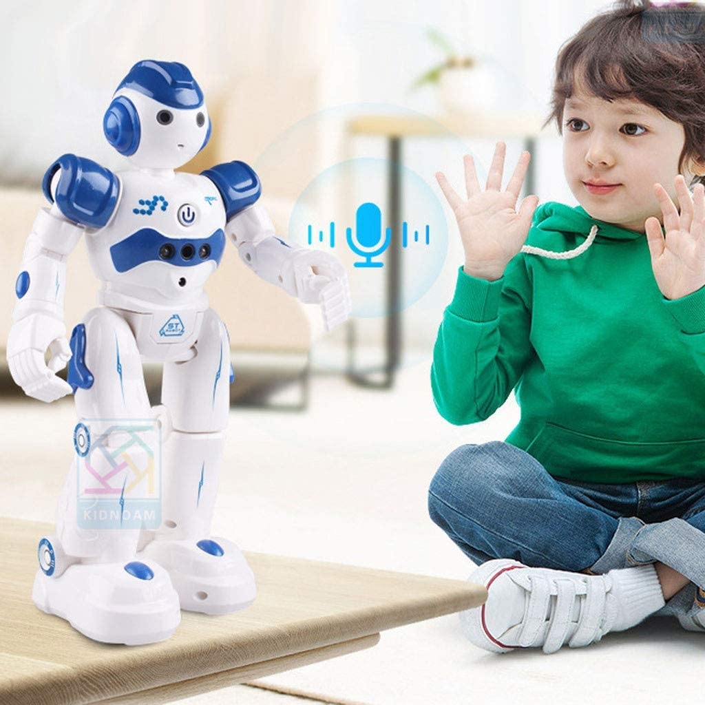 Singing mart Robot Lawrence Robot Toys RC Robot for Kids Rechargeable Intelligent Programmable Robot with Infrared Controller Birthday Gift for Girl Dancing Gesture Sensing Robot Kit Led Eyes