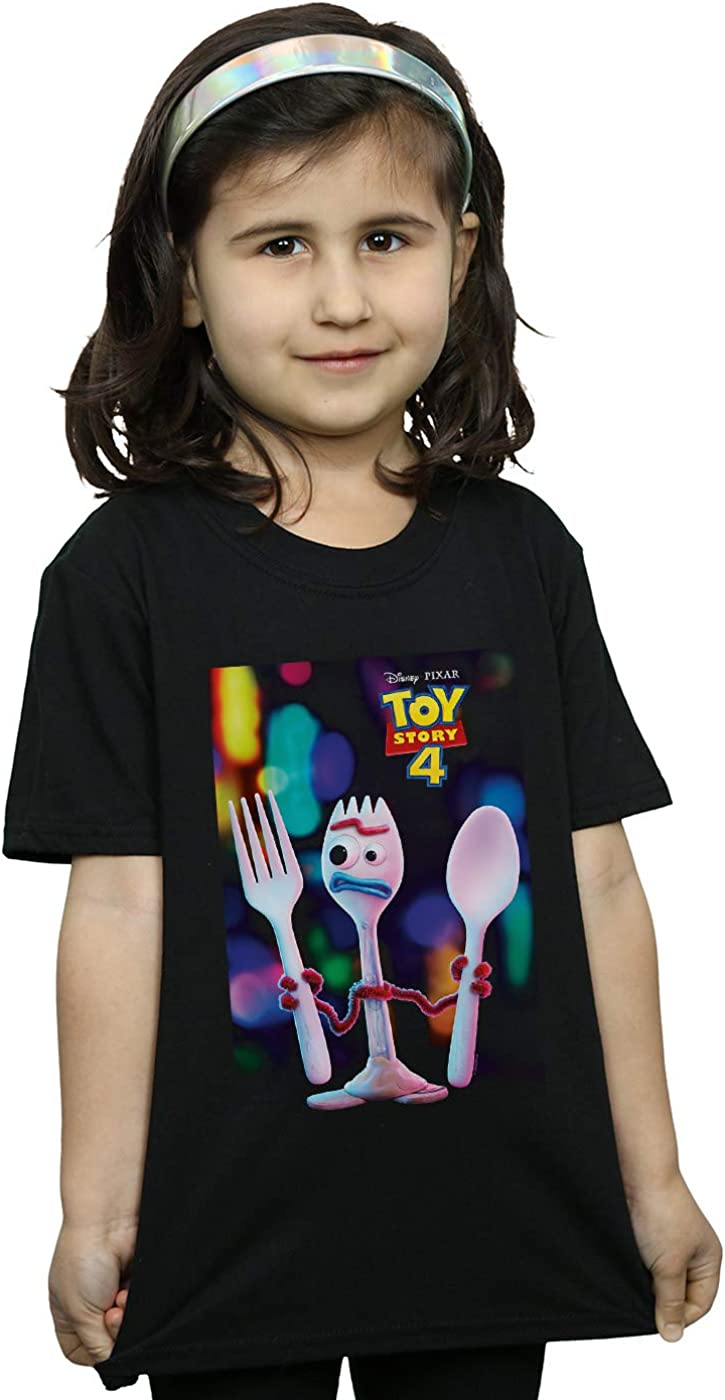 Disney Girls Toy Story 4 Forky Poster T-Shirt
