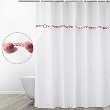 Amazon.com: Eforgift Modern Fabric Water Repellent Shower Curtain ...
