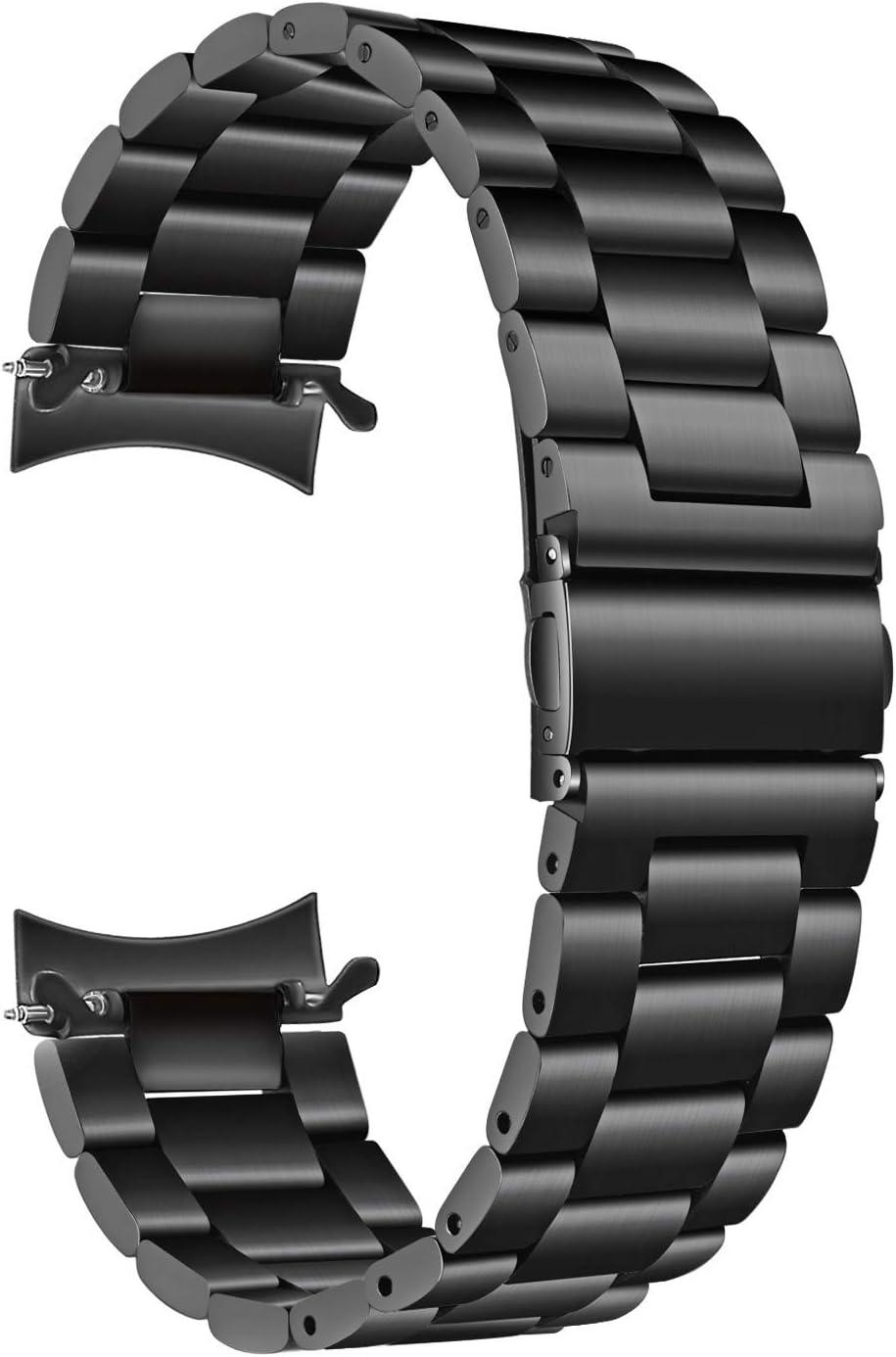 TRUMiRR Galaxy Watch 42mm Band, Correa de Reloj de Acero Inoxidable de Metal sólido Zero Gap Correa de Extremo Curvo Hombres Mujeres Pulsera Pulsera para Samsung Galaxy Watch 42mm (SM-R810 / R815)