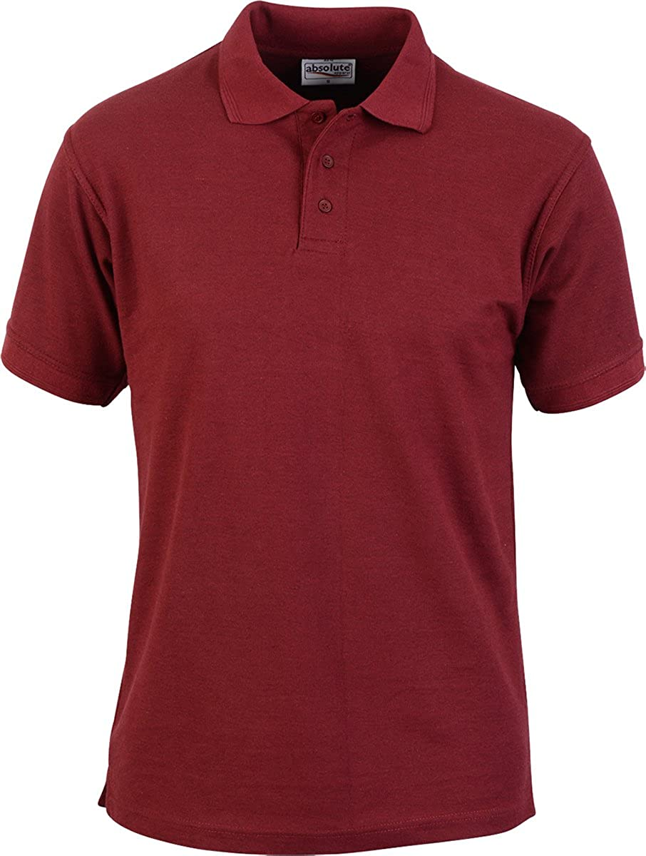 Absolute Apparel Men Adults 3-Buttons Double Stitched Precision Pique Polo Shirt