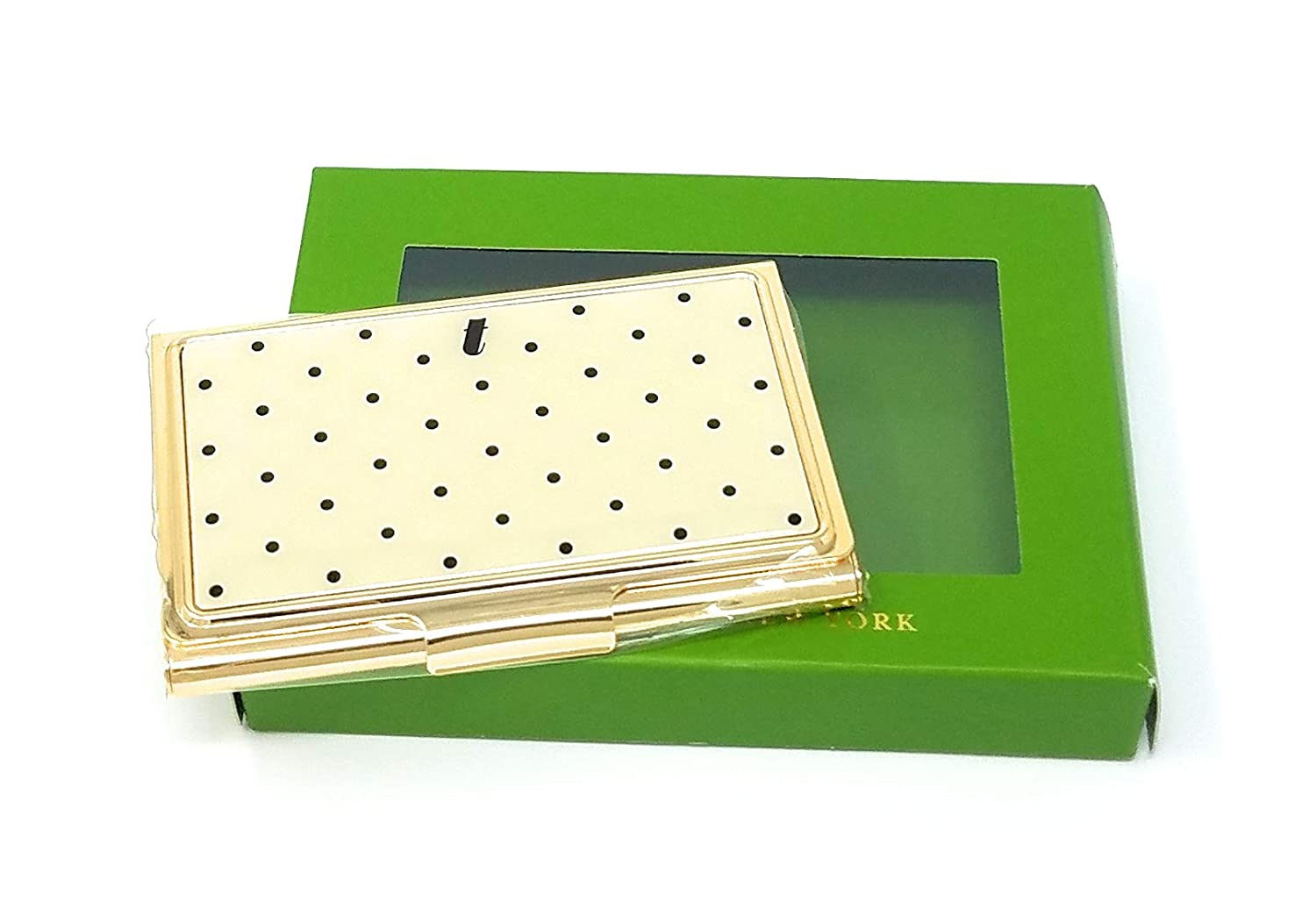 Kate Spade Down To Business Business Card Holder'T', Black Dot