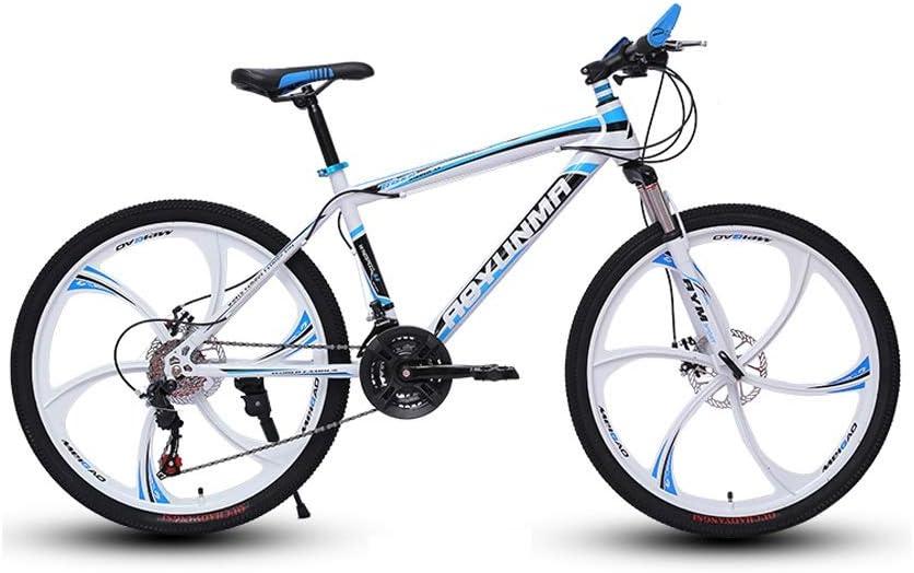 LRHD MTB 24/26 de 21 Pulgadas Velocidad 6 Cuchillos de Alta Marco de Acero de Carbono de Bicicletas Tenedor suspensión Transmisión de amortiguación Urbano Bici de la Pista Carreras Off-Road MTB Ciclo