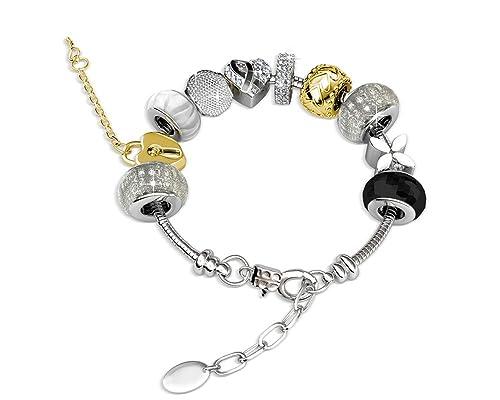987b4fbdbc9e YOURDORA Mujer con Cristales Swarovski Pulsera de Charms Originales ...