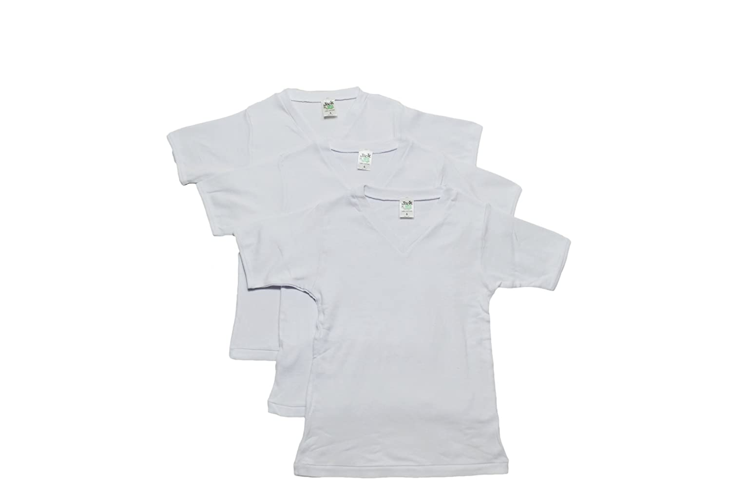 Boys 3 Pack V-neck T-shirt Jack /& Jill Underwear 18