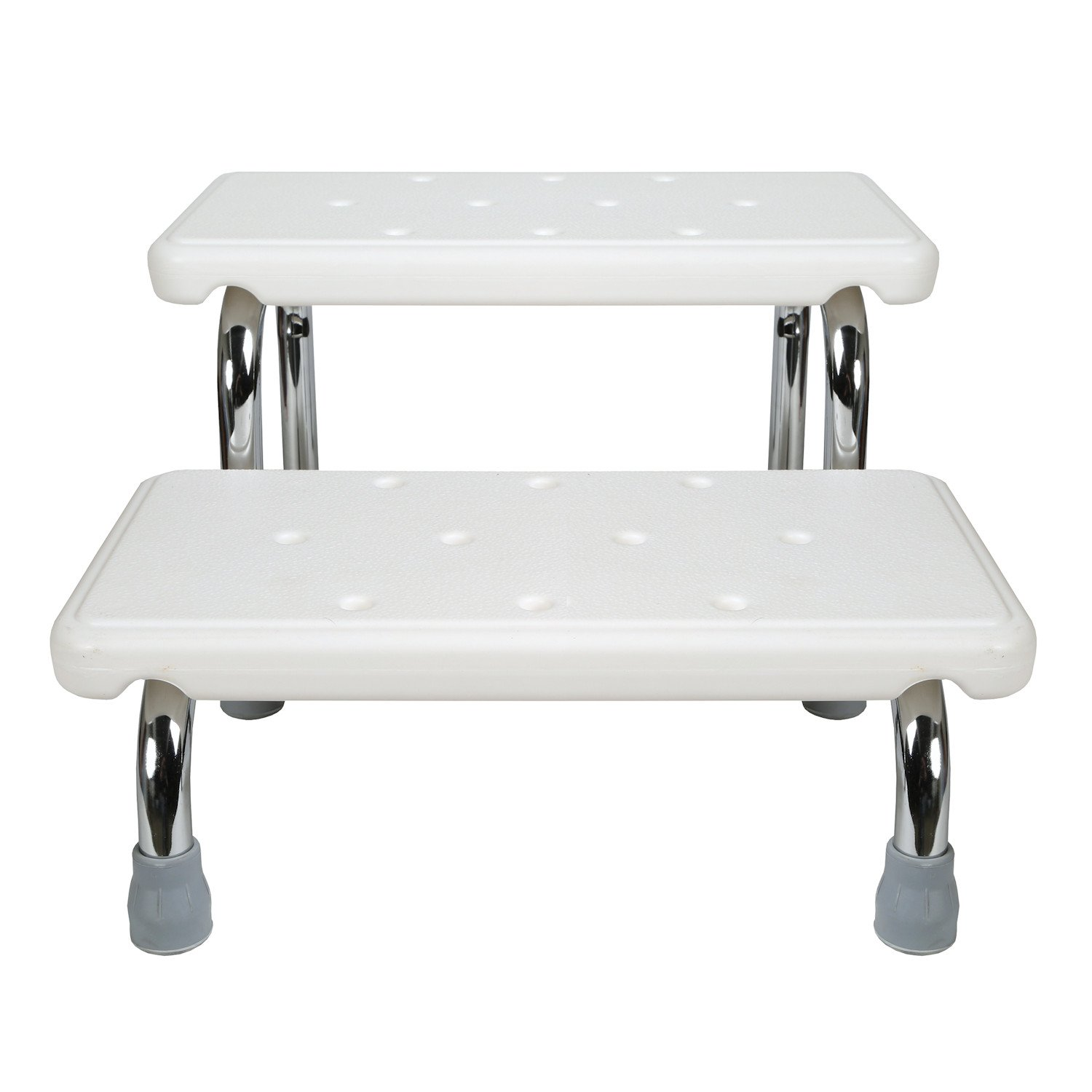 Safety Bath Steps - 2 Stairs - Steel Frame Non-Slip Rubber Feet by SUPPORT PLUS