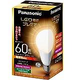 パナソニック LED電球 プレミア E26口金 電球60W形相当 電球色相当(7.8W) 一般電球・全方向タイプ 密閉形器具対応 LDA8LGZ60ESW