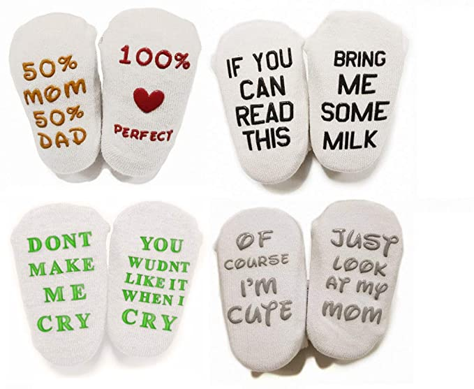 baby quotes socks gift set unique baby shower or newborn present cute quotes socks