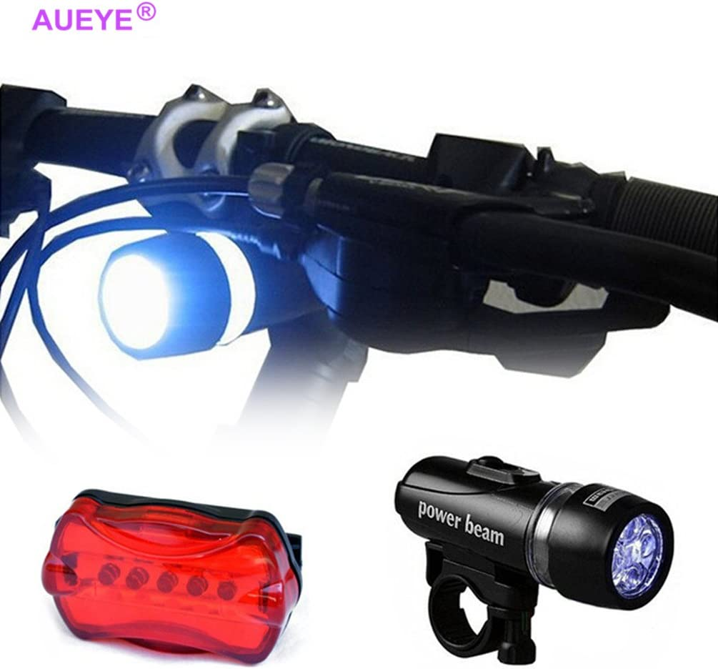 For Bicycle Head Light Front Handlebar Lamp Flashlight Safety Waterproof LED