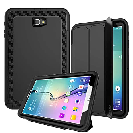 buy popular 6e4fe 81dfa Galaxy Tab A 10.1 Case SM-T580 Series - SEYMAC Heavy Duty Rugged Shockproof  Case Stand Folio Smart Cover [Auto Sleep/Wake] for Samsung Galaxy Tab A6 ...