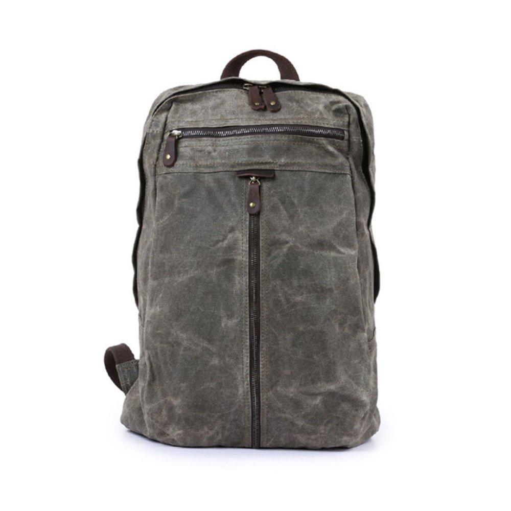 WYBXA Outdoor Herrenrucksack, Großvolumige Canvas Tasche, Tasche, Tasche, Crazy Horse Leder Rucksack, Wasserdichte Laptop Tasche B07GGTL5VD Trekkingruckscke Stilvoll und lustig d24516