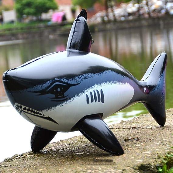 Hupoop - Tiburón Hinchable de Juguete de tiburón, 2 Paquetes ...