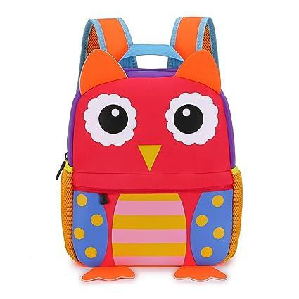 bb921602cf Hipiwe Little Kid Toddler Backpack Baby Boys Girls Kindergarten Pre School  Bags Cute Neoprene Cartoon Backpacks