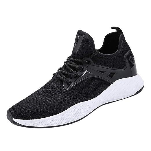3259256aad170 Amazon.com: Garish 🍋 Men's Breathable Running Shoes,Mesh Breathable ...