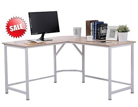 Groovy Amazon Com Corner Desktop Computer Desk Workstation White Home Interior And Landscaping Eliaenasavecom