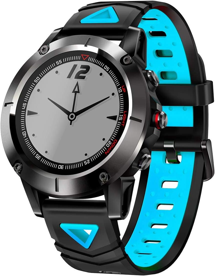 JINRU Reloj Inteligente Deportivo Soporte GPS posicionamiento Paso frecuencia cardíaca Bluetooth Larga Espera