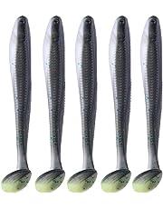 Broadroot Señuelo de pesca artificial suave con forma de T para pesca en el mar,