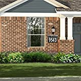 ZUOZUOYA Solar House Number Light, 4 LED, Waterproof Doorplate, Stainless Steel Address Stake