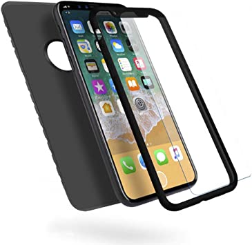 OWM Funda para iPhone X/XS, [Cuerpo Completo 360] Silicona ...