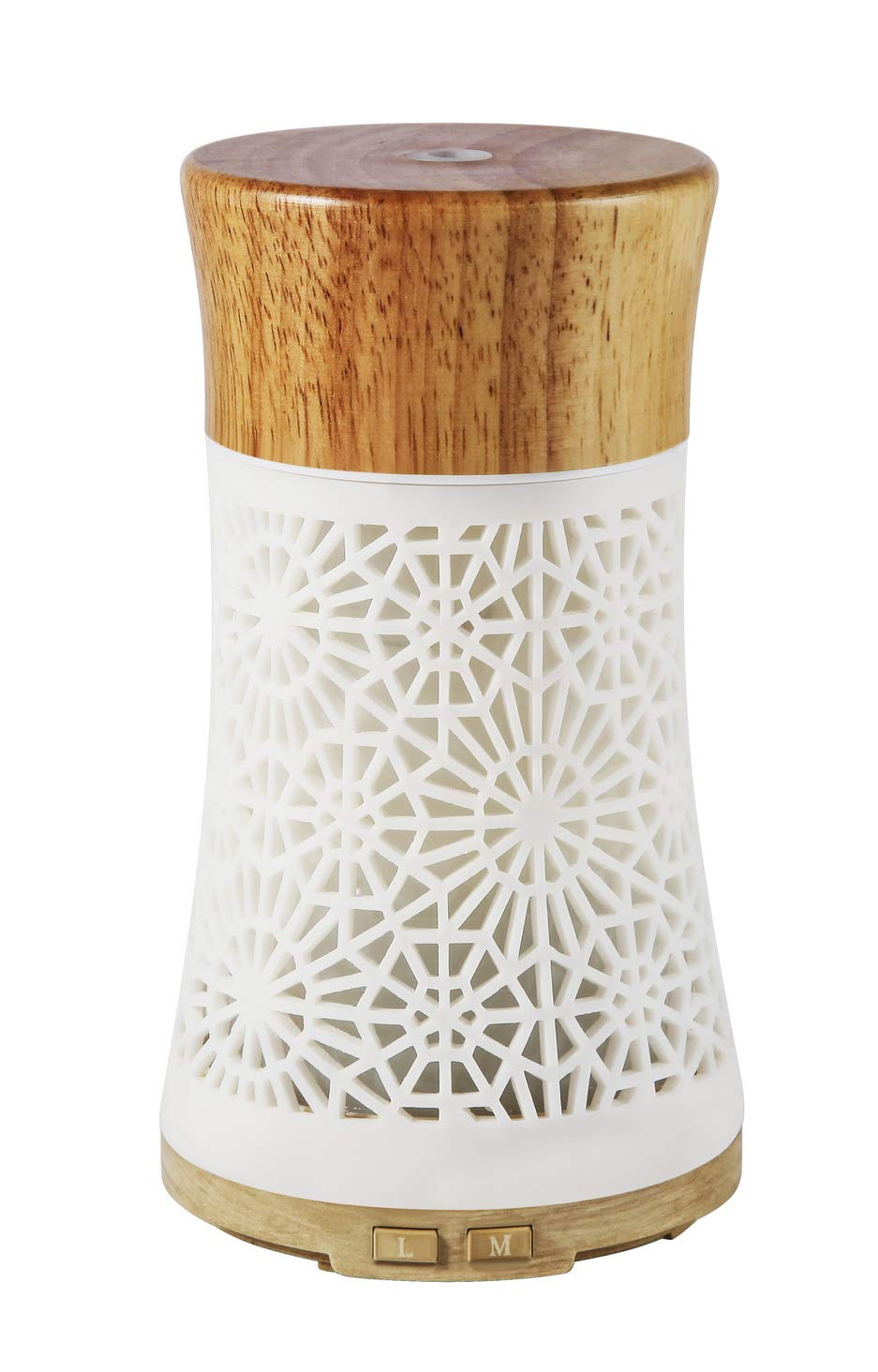 Anthun Essential Oil Diffusers,120ml Fragrant Room Sprays Ultrasonic Aroma Mist Atomizer BPA-Free, Waterless Auto-Off, 7 Color LED Lights for Office Home Bedroom Living Room Study Yoga Spa-Wooden Lid