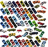 Prextex 100 Pc Die Cast Toy Cars Party Favors or Cake Toppers Stocking Stuffers Cars Toys For Kids